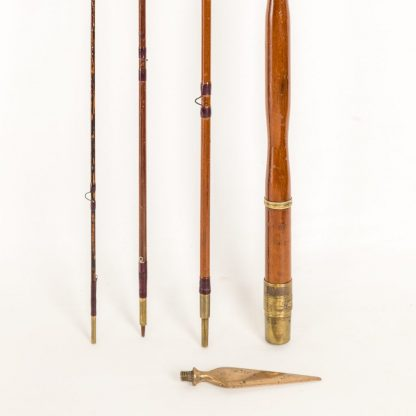Chas Farlow Prize Medal 4 piece greenheart rod 1862 10' with spike