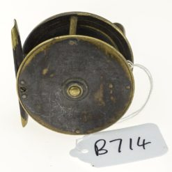 Chas Farlow & Co. Makers Brass Plate Wind Fishing Reel 2 5/8 inch.