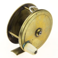 Chas Farlow & Co Brass Plate Wind Reel 3 1/4 inch