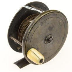 Chas Farlow & Co. Brass Plate Wind Fishing reel 3 inch.