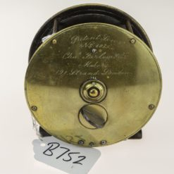 Chas Farlow & Co Brass Patent Lever Salmon Reel 4 1/4 inch