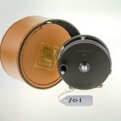 """Hardy Perfect 3 5/8"""" Fly Reel with Leather Case"""