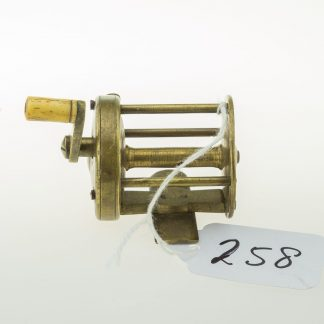 19th Century Brass wide drummed multiplying winch