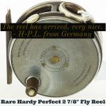 Rare Hardy Perfect 2 7/8 inch fly reel