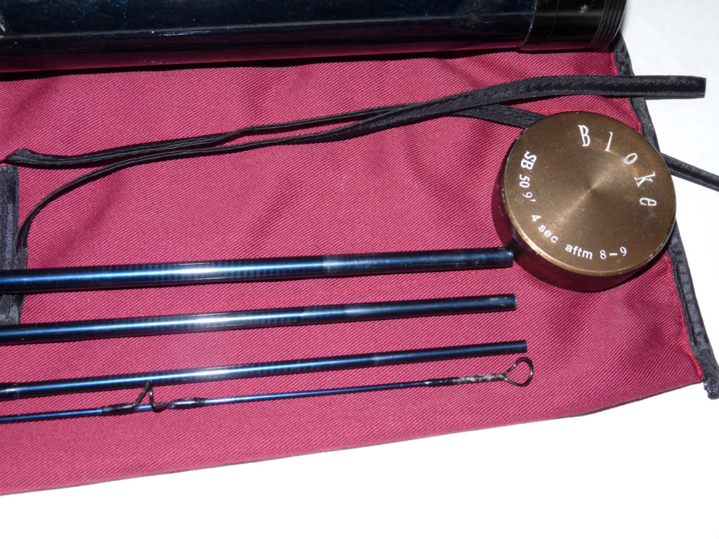 The Bloke Bass Special 9' carbon travel fly rod with bag & tube line 8/9