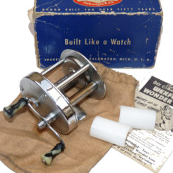 Shakespear model 1924 Direct Drive multiplier reel with parts & makers box