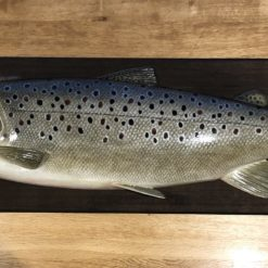 Carved wood Sea Trout by Nick Podolsky
